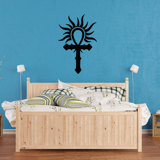 Ankh with Light Rays Decal