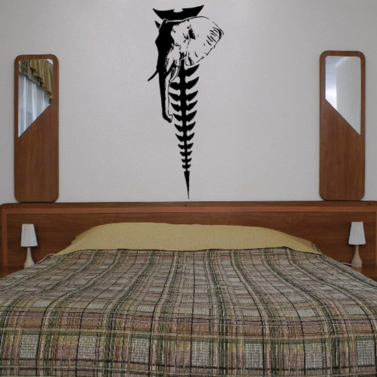 Elephant and Spine Decal