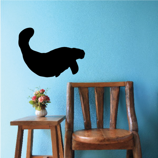 Diving Manatee Decal