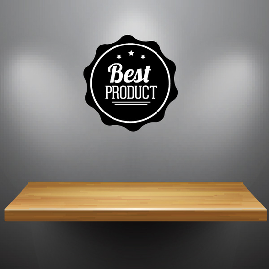 Best Product Business Badge Wall Decal - Vinyl Decal - Car Decal - Id039
