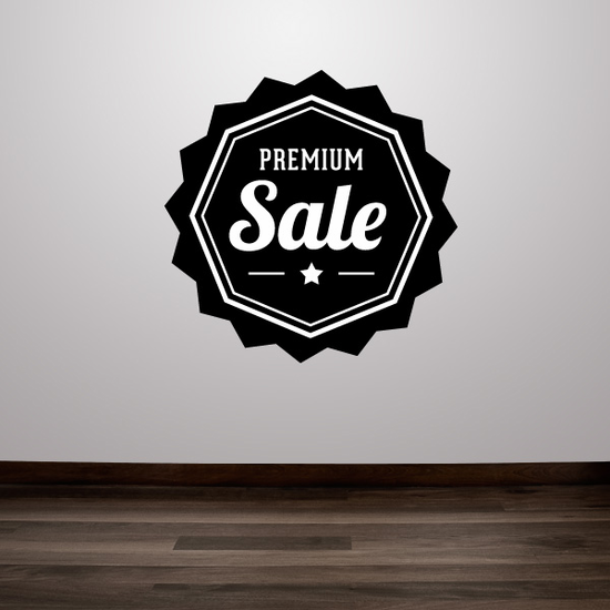 Premium Sale Business Badge Wall Decal - Vinyl Decal - Car Decal - Id040