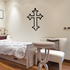 Outlined Pointed Cross Decal