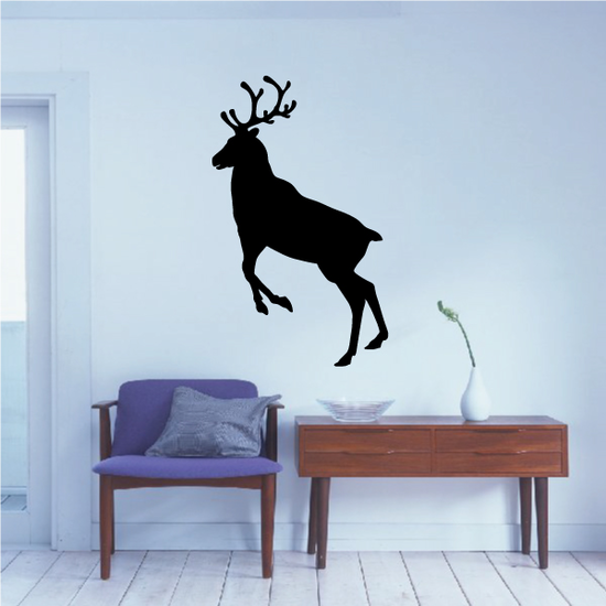 Reindeer Leaping Up Decal