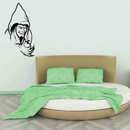Evil Witch with APple Decal