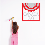 Canada Day with Bunting 2 color Decal