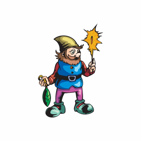 Elf with Ornament and Sparkler Sticker