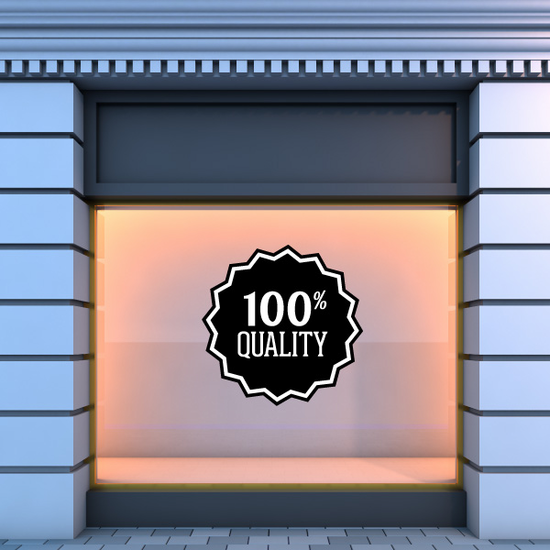 100% Quality Business Badge Wall Decal - Vinyl Decal - Car Decal - Id043