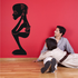 African Art Sitting Male Statue Decal
