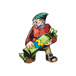 Elf with Green Candy Sticker