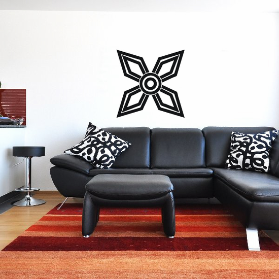African Art Pointed Star Decal