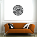 African Art Curve Pattern Decal