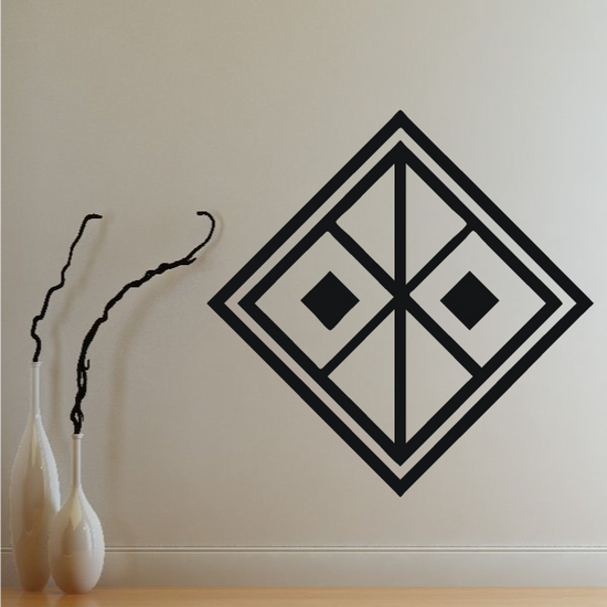 African Art Square Pattern Decal