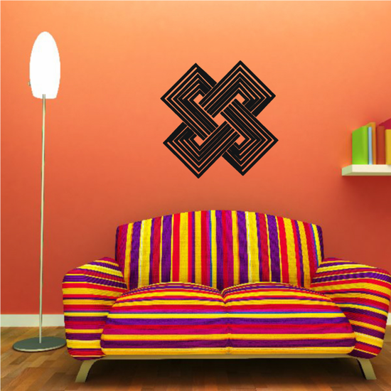 African Art Solomon's Knot Decal