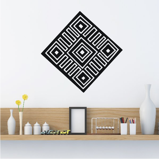African Art Knot Symbol Decal