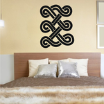 African Art Curved Knots Symbols Decal
