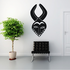 African Art Pointed Horn Mask Decal