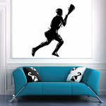 On the Move Lacrosse Player Decal