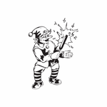 Elf with Holiday Sparkler Decal