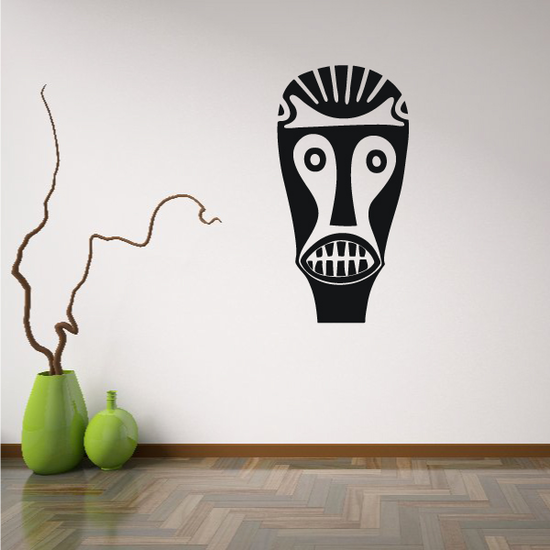 African Art Tattoo Face Mask Decal