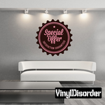 Special Offer Satisfaction Guaranteed Business Badge Wall Decal - Vinyl Decal - Car Decal - Id046