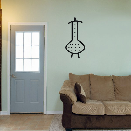 African Art Simple Dotted Figure Decal