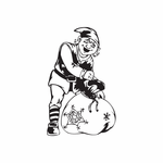 Elf with Snow Sack Decal