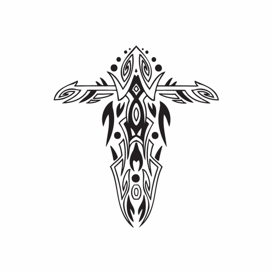 Embellished Tribal Cross Decal