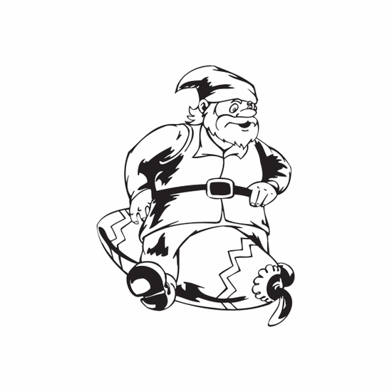 Elf Sitting on Oblong Ornament Decal