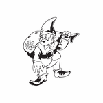 Elf Carrying Snow Sack Decal