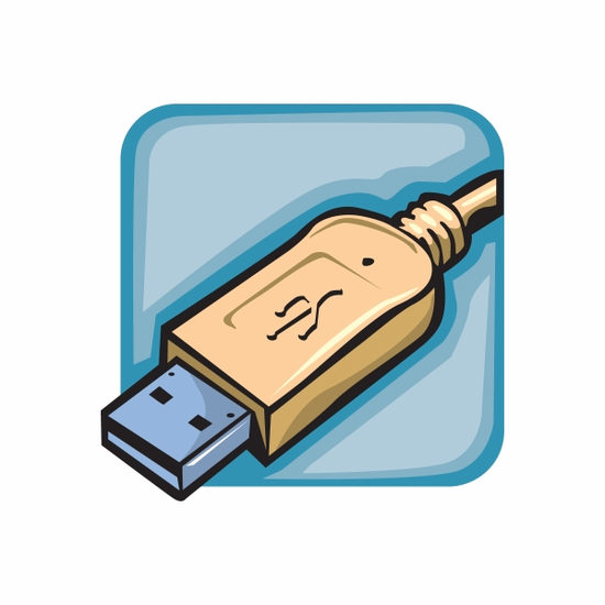 USB Cable Sticker