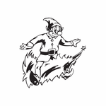 Elf Riding Tree Decal