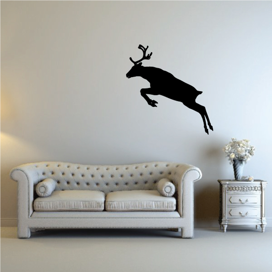 Reindeer Leaping Over Decal