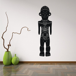 African Art Standing Male Statue Decal