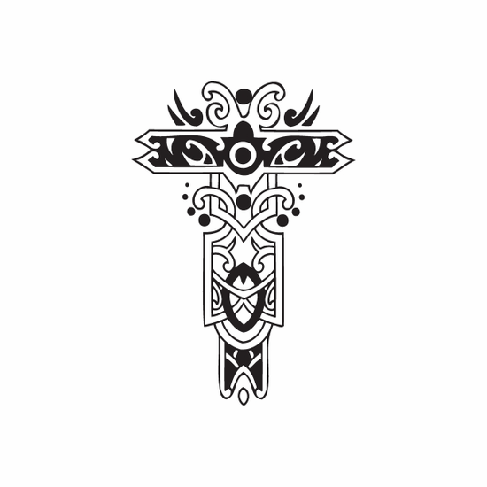 Fancy Cross with Embellishments Decal