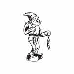 Elf Holding Double Ornaments Decal
