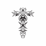 Totemic Cross with Embellishments Decal