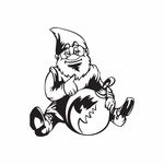 Sitting Elf with Ball Ornament Decal