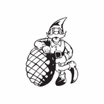 Elf Leaning on Pinecone Decal