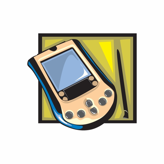 Classic Cell Phone Sticker
