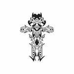 Embellished Intricate Cross Decal