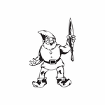 Elf with Paintbrush Decal