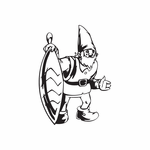 Elf with Striped Oblong Ornament Decal