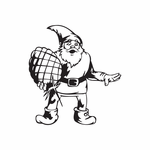 Elf Carrying Pinecone Decal