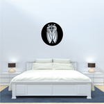 Cicada on Circle Decal