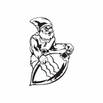 Elf with Striped Ornament Decal
