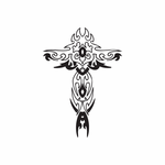 Embellished Delicate Cross Decal