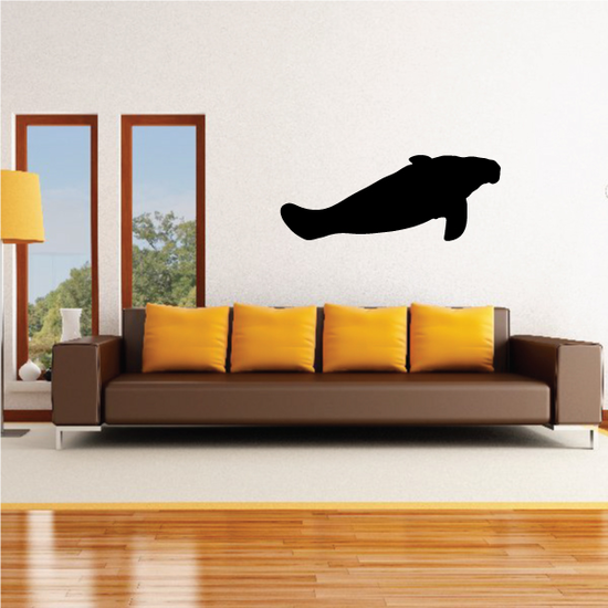 Swimming Manatee Decal