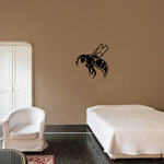 Worker Bee Hovering Decal