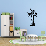 Tribal Cross with Sword Decal