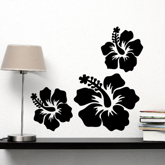 Flower Hibiscus Decals